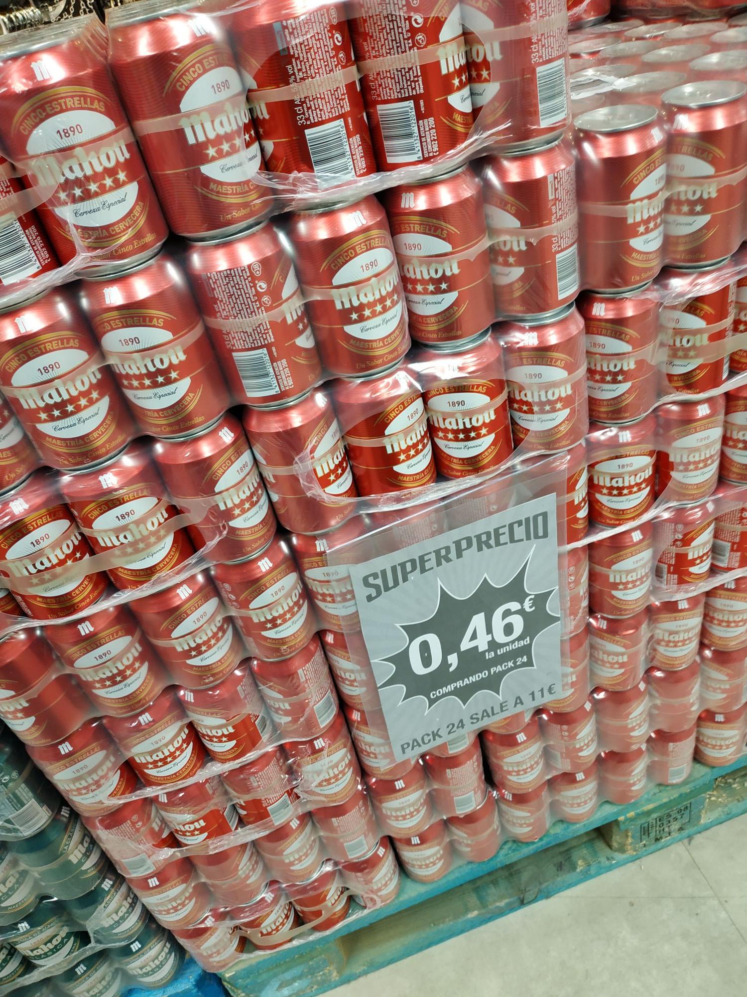 Cerveza Mahou pack 24 en Dealz
