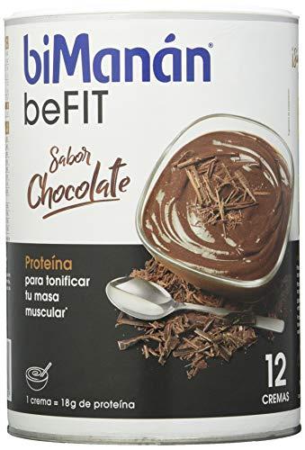 biManán - beFIT - Proteína para tonificar - Crema Chocolate - 12uds 540 gr