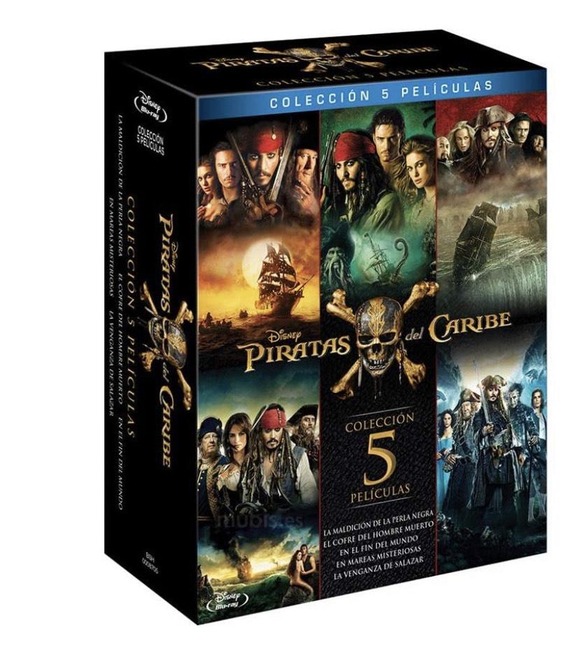 Piratas del caribe - Colección completa Bluray 5 películas + extras