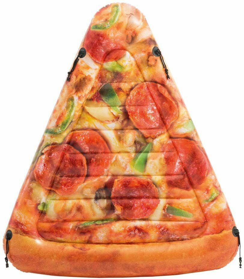 Intex - Colchoneta Hinchable Pizza - 145 x 175 cm