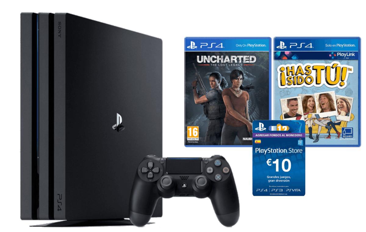 Oferta PS4 PRO con 2 juegos + tarjeta PSN Store 10€