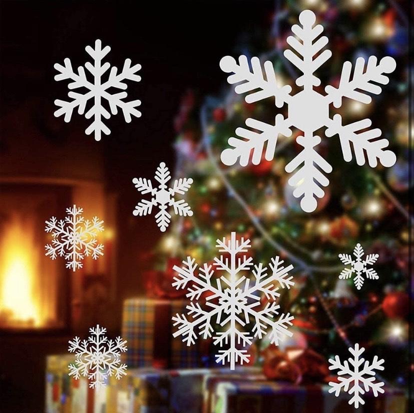 220 pegatinas Copos de Nieve Navidad