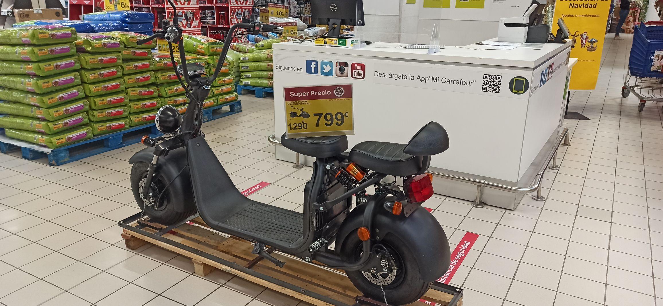 Citycoco scooter eléctrico 12H negro (Carrefour Dos Mares)