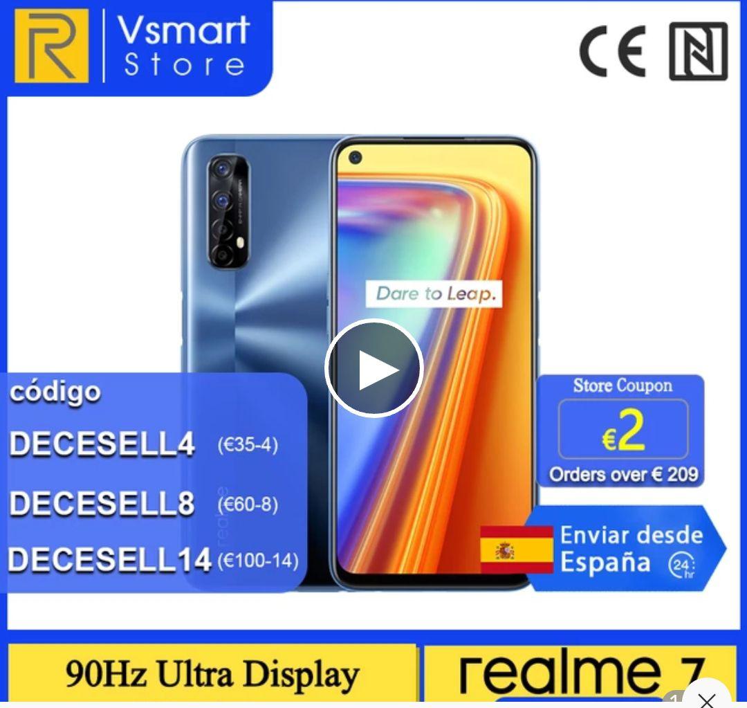 realme 7 Versión global 8GB 128GB Helio G95 6.5'' 90Hz Ultra Pantalla 30W Carga de dardo 48MP AI Quad Camera 5000mAh envio España