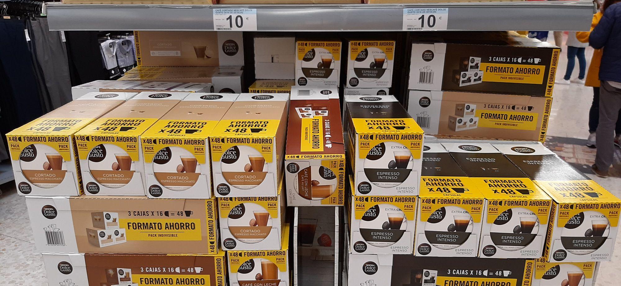 Cápsulas Dolce gusto 48 capsulas en Carrefour los patios en Málaga