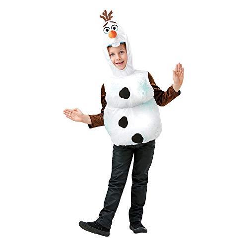 Rubies Disfraz oficial de Disney Frozen 2, Olaf Snowman Tabard, para niños, talla mediana de 5 a 6 años