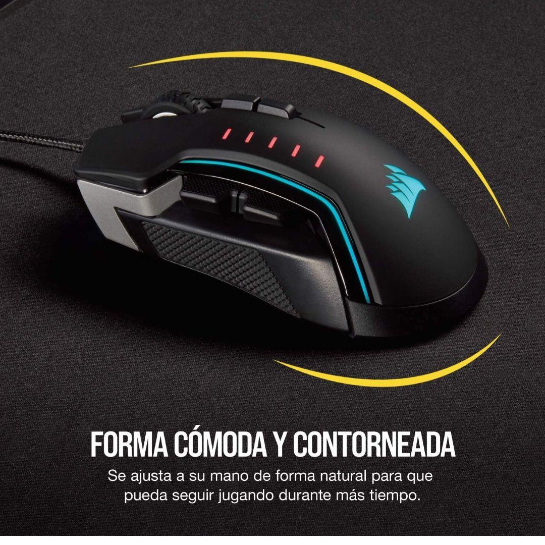Corsair Glaive RGB Pro - Ratón cómodo para Juegos FPS/MOBA