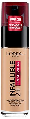 Base de maquillaje de larga duración L'Oréal Paris Infalible 24H Fresh Wear Tono 140 Beige-Doré