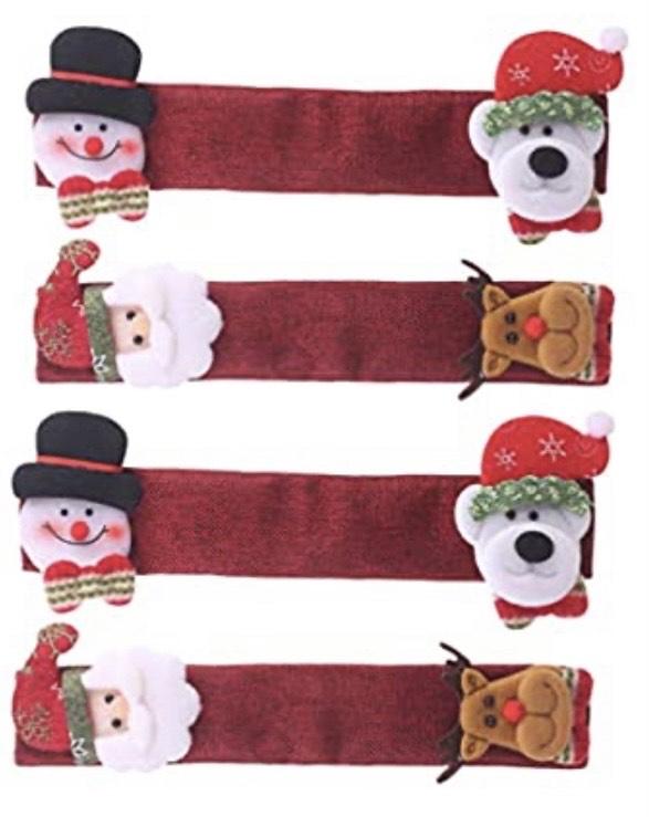 4 tiradores navideños para la puerta