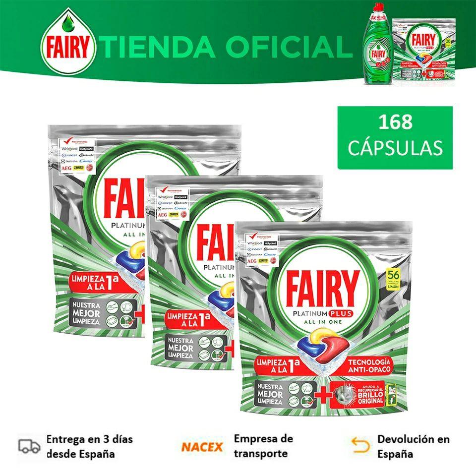 Fairy Platinum Plus Limón 168 capsulas (0,16€ lavado)