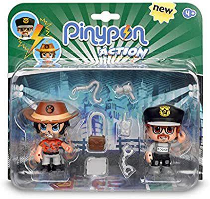 Pinypon Action - Pack de 2 Figuritas Policía Y Aventurero