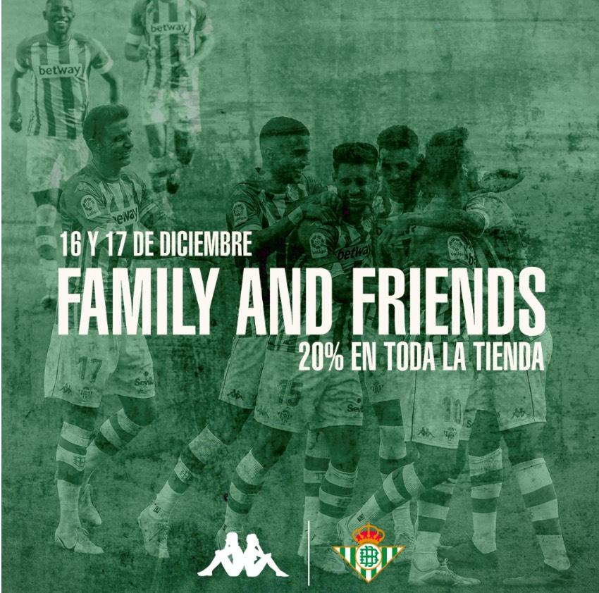 20% de DESCUENTO en toda la tienda del Betis.16 y 17 Diciembre.