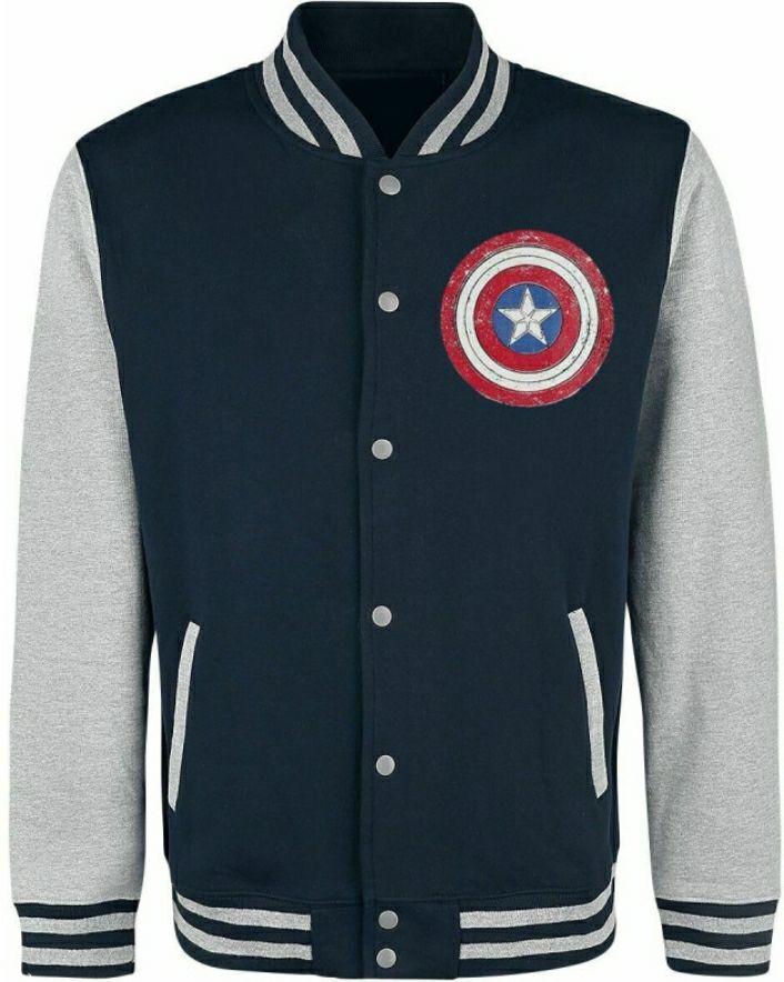 Chaqueta Beisbol Capitán América Escudo