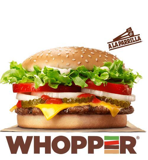 Whopper y Long Chicken a 1,99 € (c/u) en Burger King frente al Islazul (Madrid)