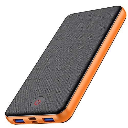 VOOE 18W Batería Externa 26800mAh [PD & QC 3.0 Carga Rápida] Power Bank con 3 Salidas USB y 2 Entradas [Doble Tipo C Puerto]