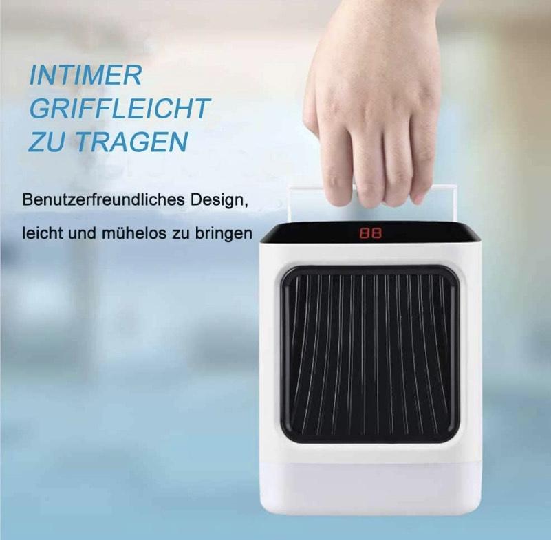 Calefactor - Ventilador compacto con temporizador + luz nocturna + indicador led solo 6,98€