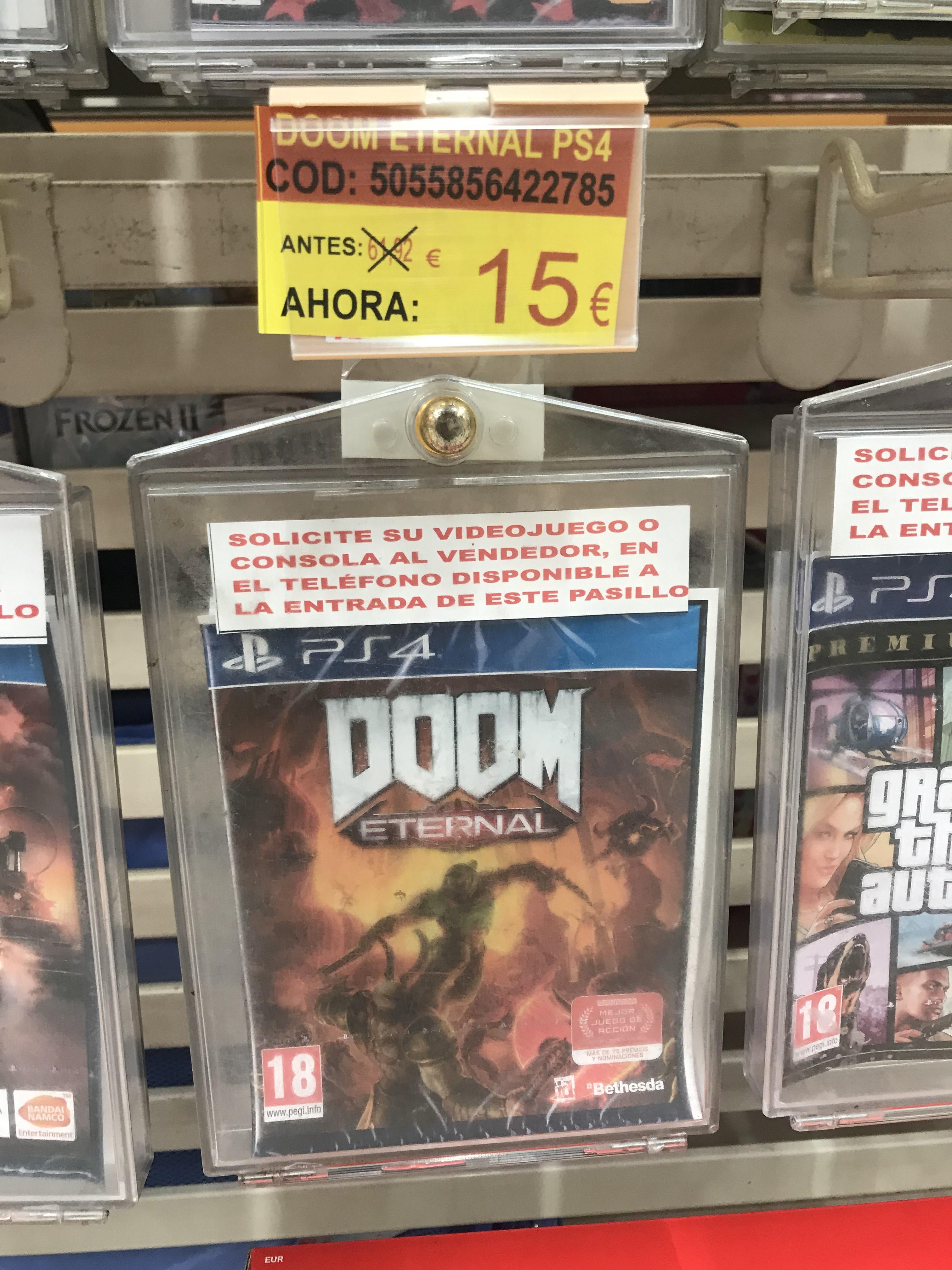 Doom eternal PS4 (Alcampo Leganes)
