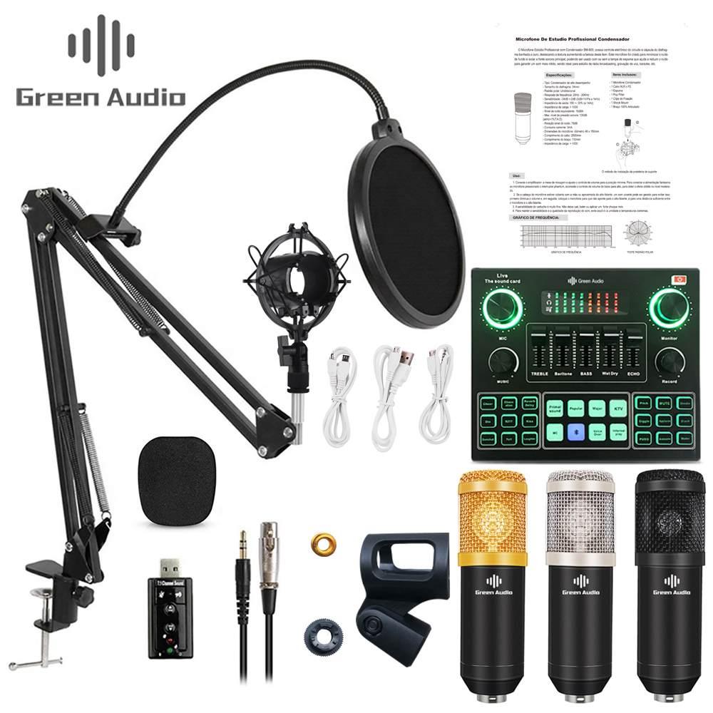 Microfono de condensador BM-800 + mini mesa de mezclas