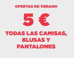 Todas las Camisas, Blusas y Pantalones (Hombre y Mujer) a 5€ en Mango Outlet