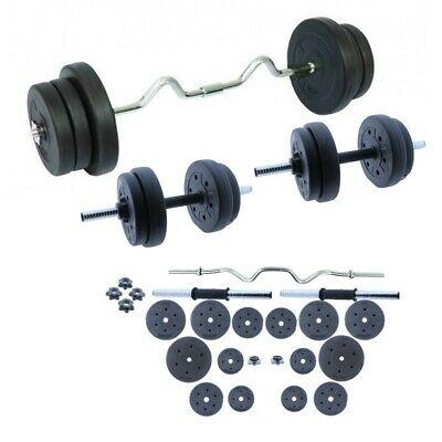Juego de pesas 60 KG con barra y mancuernas | Set de Musculación - Grupo K-2