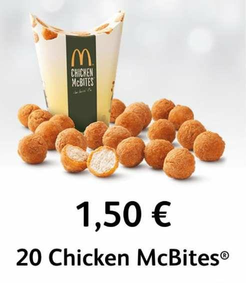 20 Chicken McBites por solo 1,50€