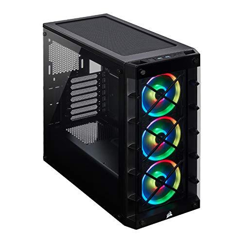 Corsair iCUE 465X RGB Cristal Templado Chasis Semi-torre ATX Inteligente Tres Ventiladores LL120 RGB LED Incluidos