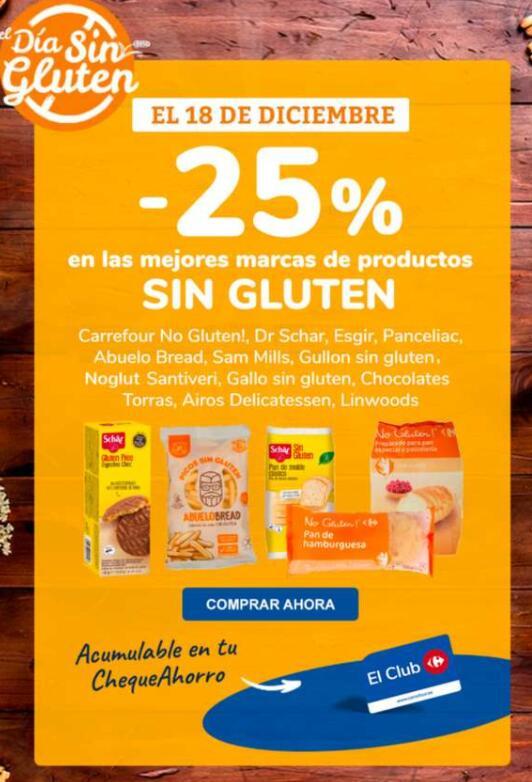 25% DTO en productos sin gluten