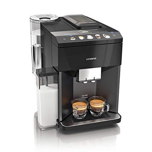 Siemens TQ505R09 Cafetera espresso superautomática, EQ.500 Integral, Negro, 1500 W, 1.7 litros.