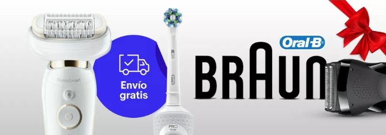 Hasta un 50% de descuento en productos Braun y Oral-B con envío gratis