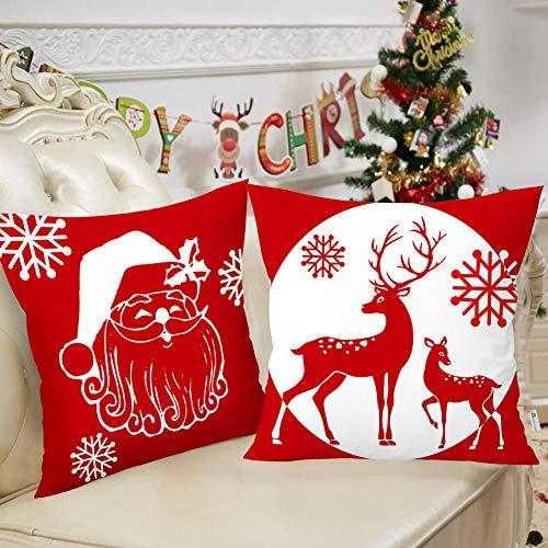 Set de 4 fundas navideñas suaves para cojines
