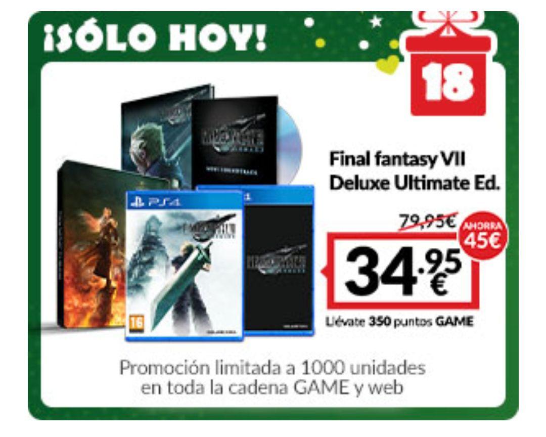 FINAL FANTASY VII REMAKE - DELUXE EDITION (PS4, edición física)