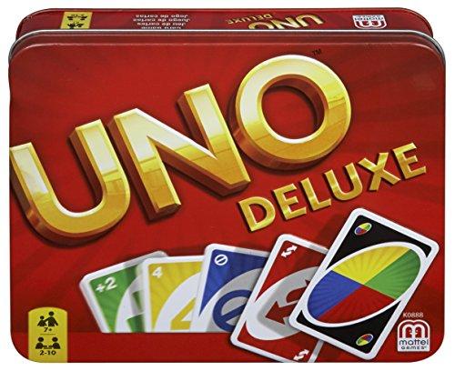 Mattel Games UNO Deluxe, juego de cartas