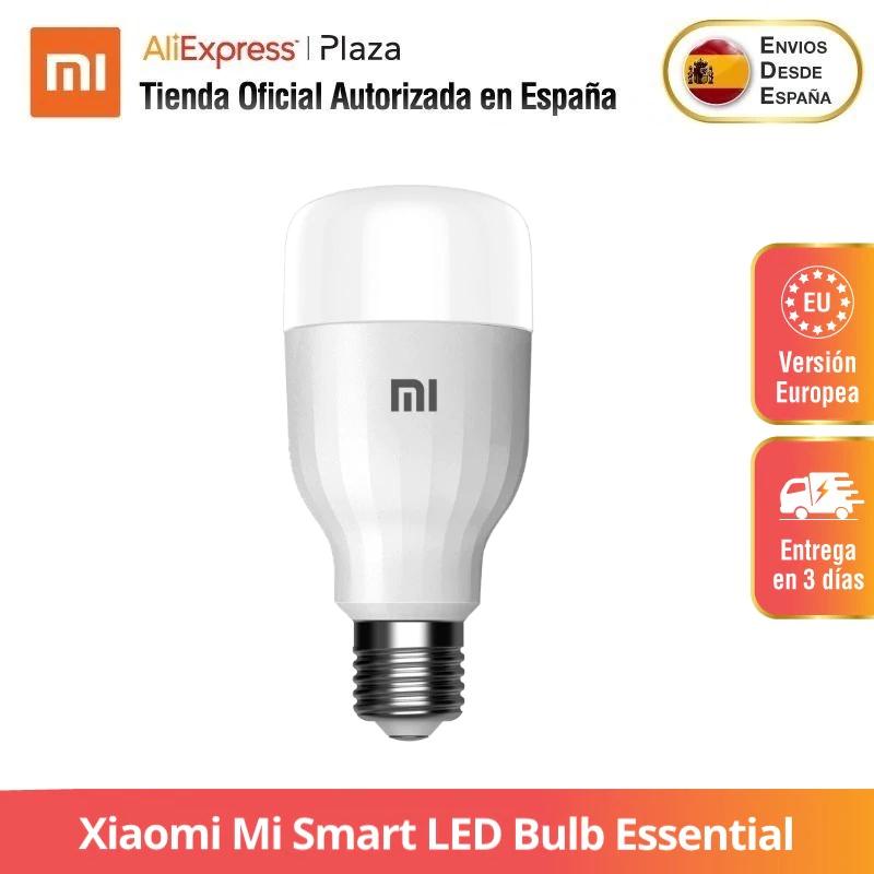 Bombilla LED Xiaomi Mi Smart Bulb Essential 16 millones de colores | Brillo y temperatura de color ajustables | Control inteligente