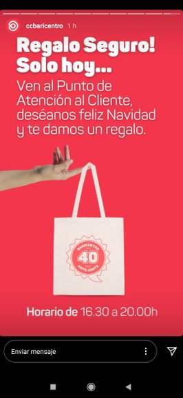 CC Baricentro: bolsa de tela gratis, yendo esta tarde a atención al cliente