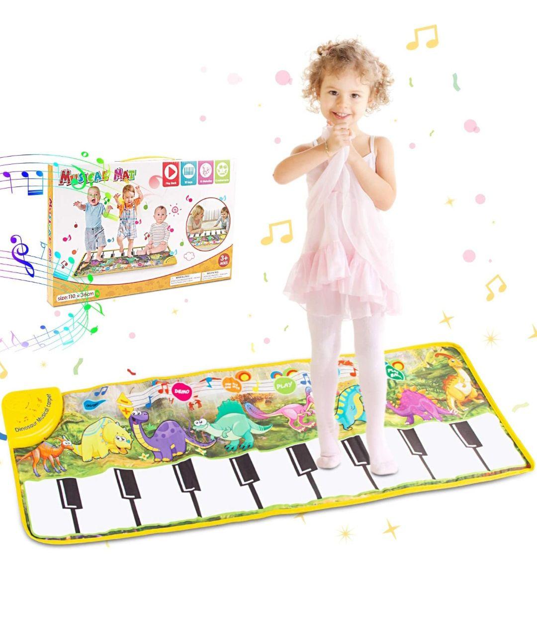 Alfombra piano aprendizaje niños con patrón y sonido para los mas peques
