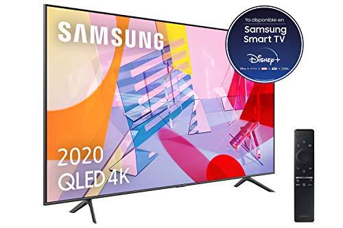 "Samsung QLED 4K 2020 55Q60T - Smart TV de 55"" con Resolución 4K UHD, con Alexa Integrada, Inteligencia Artificial 4K Wide Viewing Angle,"