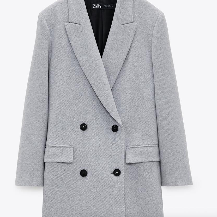 Abrigo para mujer de Zara tallas M y XL