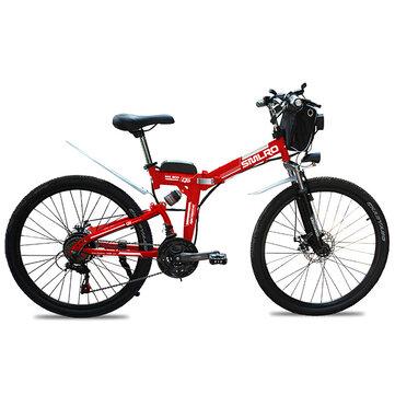 SMLRO MX300 48V 13Ah 500W 26in Bicicleta eléctrica 35 km / h Velocidad máxima / 80 km Alcance máximo