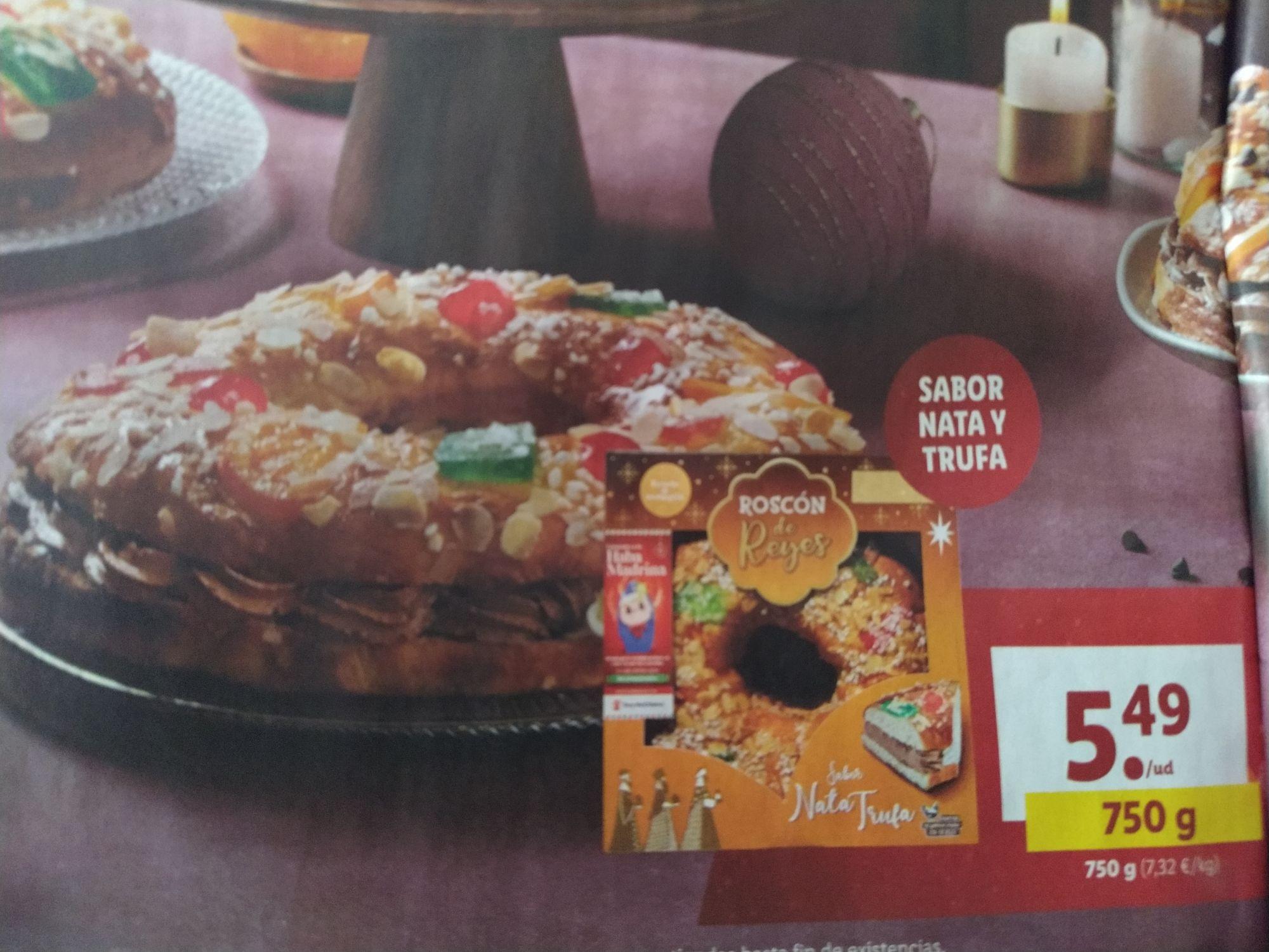Roscones de Reyes Lidl desde 3,99€ a partir del 04 de Enero