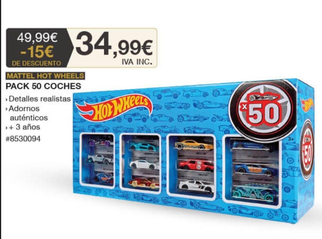 50 coches Hotwheels