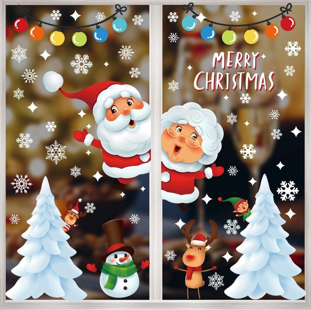 Especial adornos navideño, vinilos de ventanas
