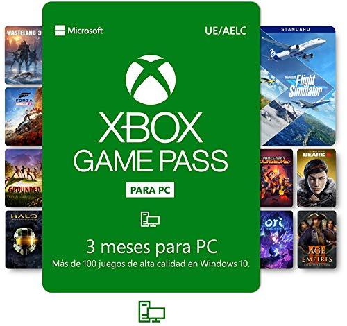 Suscripción Xbox Game Pass para PC - 3 Meses | Windows 10 PC