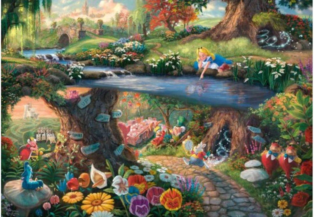 Thomas Kinkade-Puzzle-Alice in Wonderland