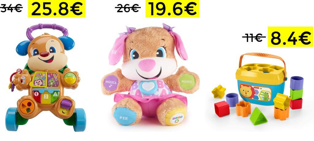 Descuentos en selección juguetes Fisher Price