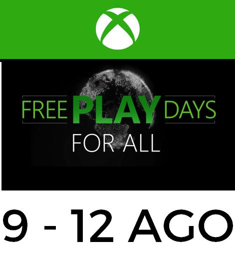 XBOX Free Play Days: Multijugador y juegos gratis del 9 al 12 de Agosto