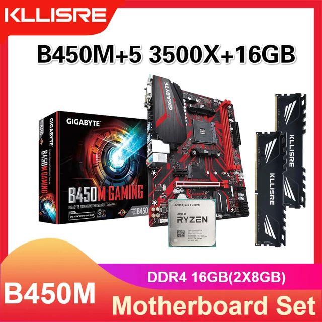 Kit Ryzen 3500x + Gigabyte B450 + 16GB RAM KLLISRE