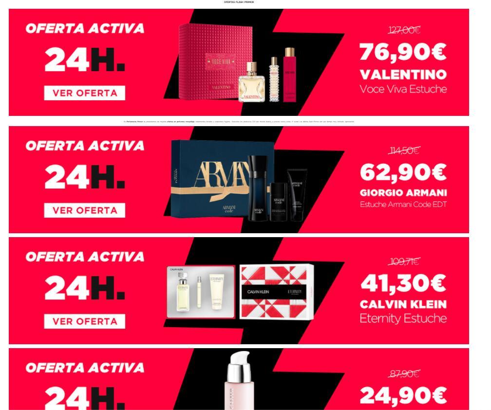 Promoción Ofertas Flash 24H en Primor