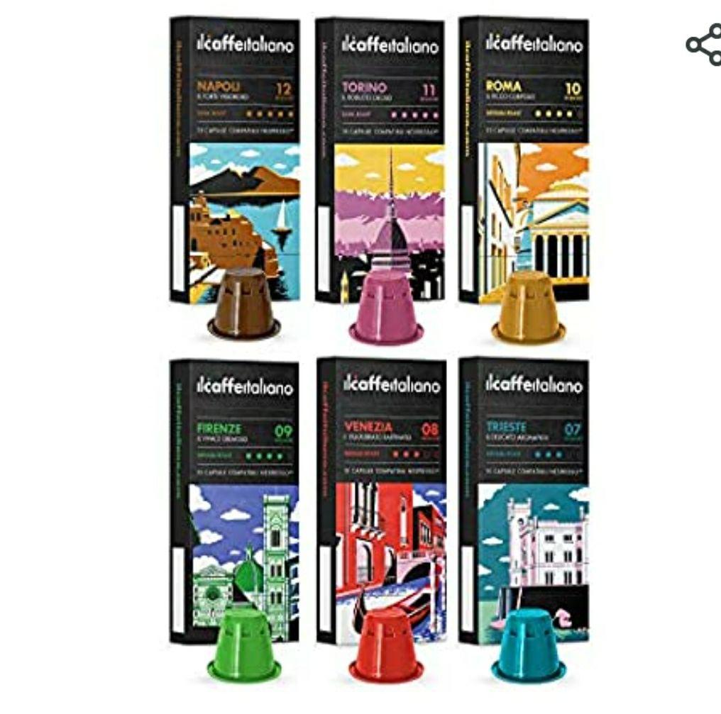Nespresso 60 Cápsulas de Café compatibles