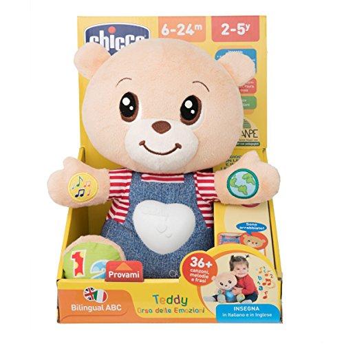 Chicco- Teddy enseña emociones, Multicolor