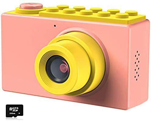 Kriogor Cámara de Fotos para Niños, Juguete Digital Cámara 4 Zoom Digital 2 Pulgadas 8MP 1080P Niño Niña (Tarjeta TF Incluida)
